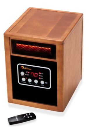 Dr Infrared Heater Quartz + PTC Infrared Portable Space Heater - 1500 Watt