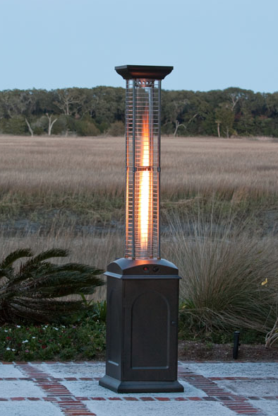 Fire Sense Mocha Finish Square Flame Patio Heater