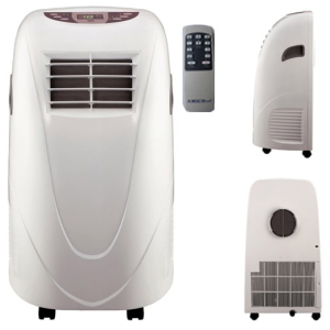 AMICO Power Shinco AP11000 11,000 BTU Portable Air Conditioner with Wireless Remote Control - all sides viewed
