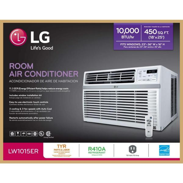LG LW1015ER 10,000 BTU 115V Window-Mounted Air Conditioner with Remote Control - brochure